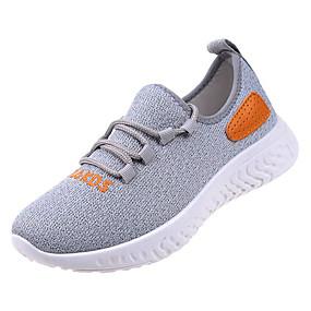 c996d17a76d Γυναικεία Δίχτυ / Ελαστικό ύφασμα Καλοκαίρι Ανατομικό Αθλητικά Παπούτσια  Περπάτημα Επίπεδο Τακούνι Στρογγυλή Μύτη Λευκό / Μαύρο / Γκρίζο / Συνδυασμός  ...