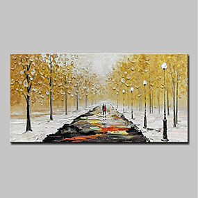 cheap Others-Oil Painting Hand Painted - Abstract / Landscape Modern Canvas