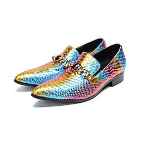 ราคาถูก รองเท้าOxfordสำหรับผู้ชาย-สำหรับผู้ชาย Novelty Shoes Synthetics ฤดูใบไม้ร่วง & ฤดูหนาว ไม่เป็นทางการ / อังกฤษ รองเท้า Oxfords ลายบล็อคสี สายรุ้ง / งานแต่งงาน / พรรคและเย็น / ไล่โทนสี / พรรคและเย็น