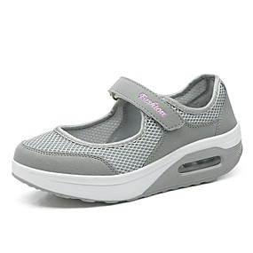984a3674dc Women's Athletic Shoes Comfort Shoes Platform Round Toe Mesh / Elastic  Fabric Walking Shoes Spring & Summer Black / Gray / Dark Red