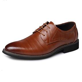 voordelige Wijdere maten schoenen-Heren Formele Schoenen Microvezel Lente Zakelijk Oxfords Zwart / Wijn / Geel