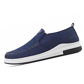 baratos Sapatilhas e Mocassins Masculinos-Homens Sapatos Confortáveis Lona Outono Casual Mocassins e Slip-Ons Não escorregar Preto / Azul / Cinzento / EU41