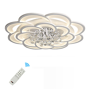 cheap Home Improvement-UMEI™ Geometric / Novelty Flush Mount Ambient Light Painted Finishes Metal Acrylic Crystal, New Design 110-120V / 220-240V Warm White / White / Dimmable With Remote Control LED Light Source Included