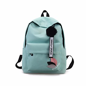 9f3b0c177f Γυναικεία Τσάντες Καμβάς Σχολική τσάντα Ζωνάρια   Κορδέλες   Φερμουάρ Μαύρο    Ανθισμένο Ροζ   Γκρίζο