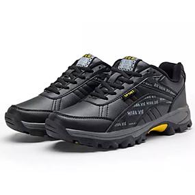 baratos Sapatos Esportivos Masculinos-Homens Sapatos Confortáveis Couro Ecológico Inverno Casual Tênis Aventura Manter Quente Botas Curtas / Ankle Preto / Vermelho / Preto / Amarelo