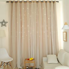 halpa Ikkunoiden verhot-Moderni verhot Drapes 2 paneeli Verho / Pimennys / Makuuhuone