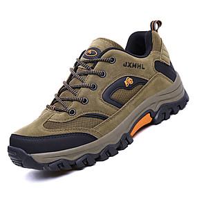 hesapli Erkek Atletik Ayakkabıları-Erkek Ayakkabı Örümcek Ağı / PU Sonbahar Sportif Atletik Ayakkabılar Dağ Yürüyüşü Atletik için Gri / Kahverengi / Ordu Yeşili / Zıt Renkli