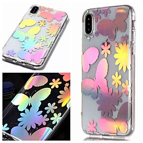 billige iPhone-etuier-Etui Til Apple iPhone XR / iPhone XS Max IMD / Transparent / Mønster Bagcover Sommerfugl Blødt TPU for iPhone XS / iPhone XR / iPhone XS Max