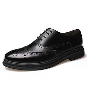 baratos Oxfords Masculinos-Homens Sapatos formais Pele Primavera / Outono Negócio / Casual Oxfords Não escorregar Preto / Marron / Sapatos de vestir