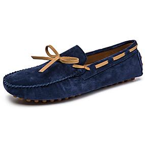 baratos Sapatos Náuticos Masculinos-Homens Sapatos de couro Pele Primavera & Outono Casual / Formais Sapatos de Barco Massgem Marron / Verde / Azul