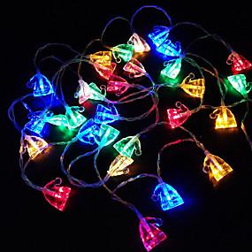 ac8a95055dc 3M Cuerdas de Luces 30 LED Diodo LED Blanco Cálido   Blanco   Rojo  Decorativa Pilas AA alimentadas 1pc
