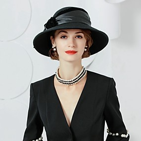 povoljno Kentucky Derby Hat-100% vuna kape s Mašnica 1pc Kauzalni / Dnevni Nosite Glava