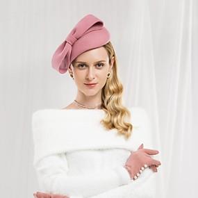 billige Kentucky Derby Hat-100% Ull Hatter med Sløyfe 1pc Avslappet / Dagligdagstøy Hodeplagg