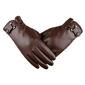 cheap 90%OFF-Full Finger Men's Motorcycle Gloves Leather Touch Screen / Keep Warm
