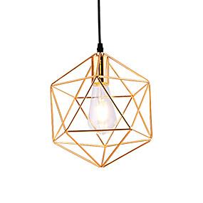 저렴한 홈 임프르브먼트-현대 스타일 전기 기하학 패턴 디자인 금속 케이지 펜던트 조명 레스토랑 카페 펜던트 램프