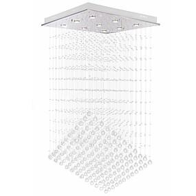 povoljno Lusteri-VALLKIN 9-Light Kristal / Linear Lusteri Ambient Light Electroplated Metal Crystal, New Design 110-120V / 220-240V Meleg fehér / Hladno bijela