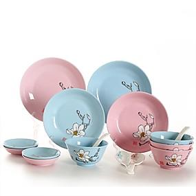 ieftine Veselă-40-Piece 16-Piece Farfurii Pentru Cină Seturi Pentru Cină Farfurii De Serviciu dinnerware Porţelan Lemn Creative Încântător