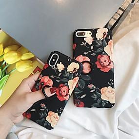 voordelige Telefoons en accessoires-hoesje Voor Apple iPhone XR / iPhone XS Max Ringhouder / Patroon Achterkant Bloem Hard PC voor iPhone XS / iPhone XR / iPhone XS Max