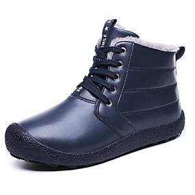 baratos Botas Masculinas-Homens Sapatos Confortáveis Couro Ecológico Inverno Casual Botas Aventura Manter Quente Preto / Azul