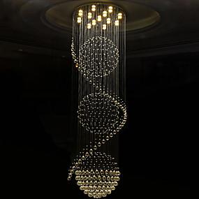 billige Taklamper-Krystall Lysekroner Nedlys galvanisert Metall Krystall, Pære Inkludert, designere 110-120V / 220-240V Varm Hvit / Kald Hvit Pære Inkludert / GU10