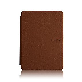 cheap Tablet Accessories-Case For Amazon Kindle PaperWhite 4 Shockproof / Auto Sleep / Wake Up Full Body Cases Solid Colored Hard PU Leather for Kindle PaperWhite 4