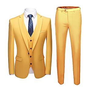 povoljno Maturalna odijela-Jednobojni Kroj po mjeri Poliester Odijelo - Stepenasti Droit 1 bouton / odijela