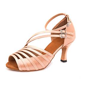 9e6aedac2ec1 Žene Cipele za latino plesove Saten Štikle   Tenisice Kopča Tanka visoka  peta Moguće personalizirati Plesne cipele Tamnosive   Nude