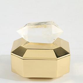 billige Lagring og oppbevaring-Metall Oval Krystall / Nytt Design Hjem Organisasjon, 1pc Smykkeoppbevaring
