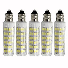billige Kornpærer med LED-5pcs 4.5 W 450 lm E11 LED-kornpærer T 76 LED perler SMD 2835 Mulighet for demping Varm hvit / Kjølig hvit 110 V