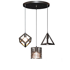 abordables Plafonniers-3 lumières Grappe Lampe suspendue Lumière d'ambiance Finitions Peintes Métal Designers 110-120V / 220-240V Blanc Crème Ampoule non incluse / E26 / E27