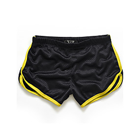 cheap Under $13.99-Men's Active Slim / Shorts Pants - Solid Colored / Color Block Yellow / Sports / Summer