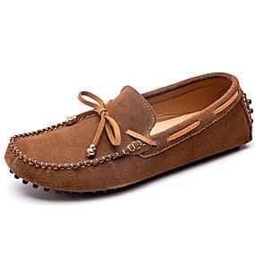 baratos Sapatos Náuticos Masculinos-Homens Mocassim Camurça Primavera & Outono Casual / Formais Sapatos de Barco Não escorregar Preto / Marron / Cinzento