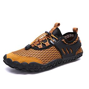 baratos Tênis Masculino-Homens Sapatos Confortáveis Com Transparência Verão Temática Asiática Tênis Água / Tênis Anfíbio Respirável Preto / Amarelo / Azul Escuro / Ao ar livre