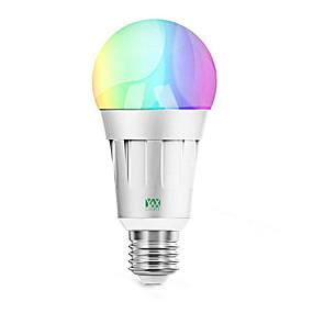 billige Globepærer med LED-ywxlight®1pcs 7w rgb hjem belysning wifi smart lyspære app fjernkontroll smart lyspære ledet stemme lys 85-265v