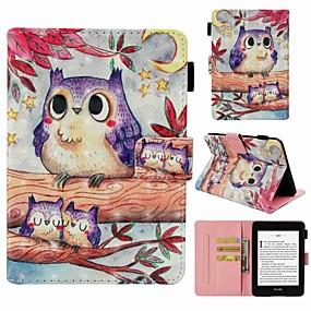 Χαμηλού Κόστους Άλλη υπόθεση-tok Για Amazon Kindle PaperWhite 4 Θήκη καρτών / Ανθεκτική σε πτώσεις / Με σχέδια Πλήρης Θήκη Κουκουβάγια Σκληρή PU δέρμα για Kindle PaperWhite 4