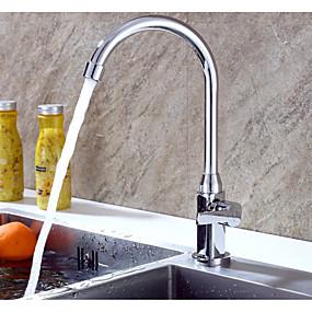 povoljno Kuhinjske slavine-Kuhinja pipa - Jedan Ručka jedna rupa Standardna lijevak Suvremena Kitchen Taps