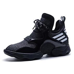 voordelige Damessneakers-Dames Nappaleer Lente Sneakers Lage hak Zwart / Roze