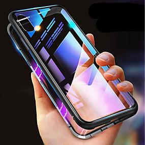 voordelige Apple-accessoires-case voor iphone xr xs xs max schokbestendig transparant magnetische gevallen effen gekleurde hard gehard glas voor iphone x 8 8 plus 7 7 plus 6s 6s plus se 5 5s