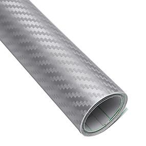 abordables Accessoires Extérieurs-127x40cm 3d en fiber de carbone vinyle imperméable voiture wrap feuille rouleau film diy autocollant pour voiture moto