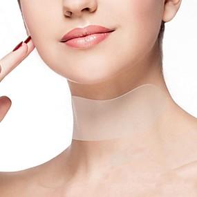 abordables Aparatos para el Baño-Reutilizable anti arrugas en el cuello almohadilla de silicona anti microgroove remoción del cuello pegatina cuidado de la piel parche de gel de sílice arruga