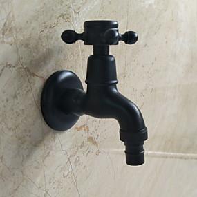 저렴한 수전 악세사리-욕실 싱크 수도꼭지 - 와이드 스프레드 일렉트로플레이티드 그외 싱글 핸들 하나의 구멍Bath Taps