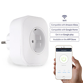 povoljno Pametna kuća-Utičnica / Smart Plug Vremenska funkcija / Jednostavan za korištenje / s USB priključnicama 1pc PVC / ABS / 750 ° C WiFi-omogućen / APP / Andriod 4,2 gore Amazon Alexa Echo / Google pomoćnik