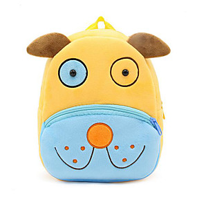 cheap Preschool Backpacks-Boys' Bags Synthetic School Bag Zipper Animal Yellow