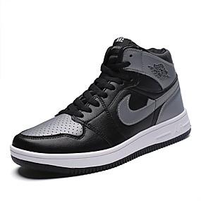 hesapli Erkek Atletik Ayakkabıları-Erkek Ayakkabı PU Bahar / Yaz / Sonbahar Sportif / Günlük Atletik Ayakkabılar Koşu / Fitnes Çalışması / Yürüyüş Atletik / Günlük / Dış mekan için Siyah / Beyaz / Siyah / Kırmızı / Beyaz / Mavi / Kış