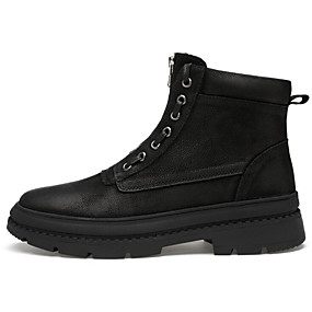 e17c981518e Ανδρικά Παπούτσια άνεσης Νάπα Leather Φθινόπωρο & Χειμώνας Μπότες Μπότες  στη Μέση της Γάμπας Μαύρο