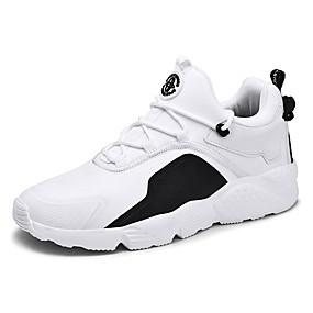 baratos Tênis Masculino-Homens Sapatos Confortáveis Com Transparência Primavera Verão Casual Tênis Respirável Preto / Branco / Vermelho