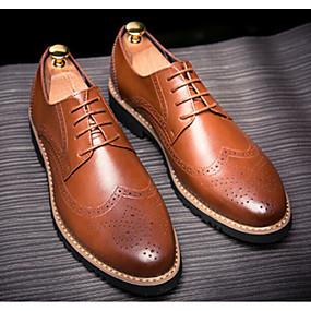 eaf5c9a372 Ανδρικά Παπούτσια άνεσης Δερμάτινο Άνοιξη   Χειμώνας Oxfords Μαύρο   Καφέ