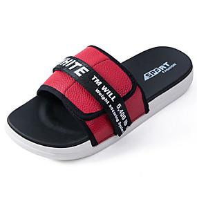 baratos Sandálias e Chinelos Masculinos-Homens Sapatos Confortáveis Couro Sintético Verão Chinelos e flip-flops Preto / Verde / Vermelho