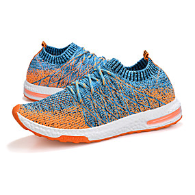 cheap Running Shoes-Men's Light Soles Knit Spring & Summer Sporty / Casual Athletic Shoes Running Shoes / Walking Shoes Breathable Dark Grey / Light Grey / Light Blue