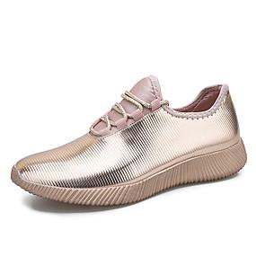 voordelige Damessneakers-Dames Elastische stof Lente zomer Informeel Sneakers Platte hak Ronde Teen Pailletten Goud / Zwart / Zilver